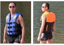Professional Life Jacket Adult Life Vest Safety Swimming Vest Inflatable Drifting Suit Water Sports 10Pcs / Lot Free Shipping(China)