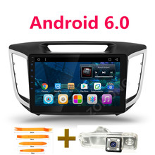 10.2 inch Android 6.0 car dvd gps player For HYUNDAI CRETA IX25 2014 2015 2016 2017 navigation stereo audio player BT HD1024*600(China)