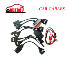 Promotion OBD OBD2 full set 8 car cables work for tcs cdp pro plus Car Cable diagnostic Tool Interface cable free shipping(China)