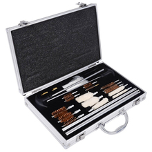 Hot Sale 74PCS Aluminum wooden Box Universal Hand Gun Rifle Shot Gun Cleaning Smithing Kit Set With Case Rilfe Accessories