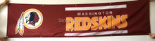 Washington Redskins Banner 2x8FT 60x240CM NFL Flag 100D Polyester grommets Custom6038,free shipping(China)