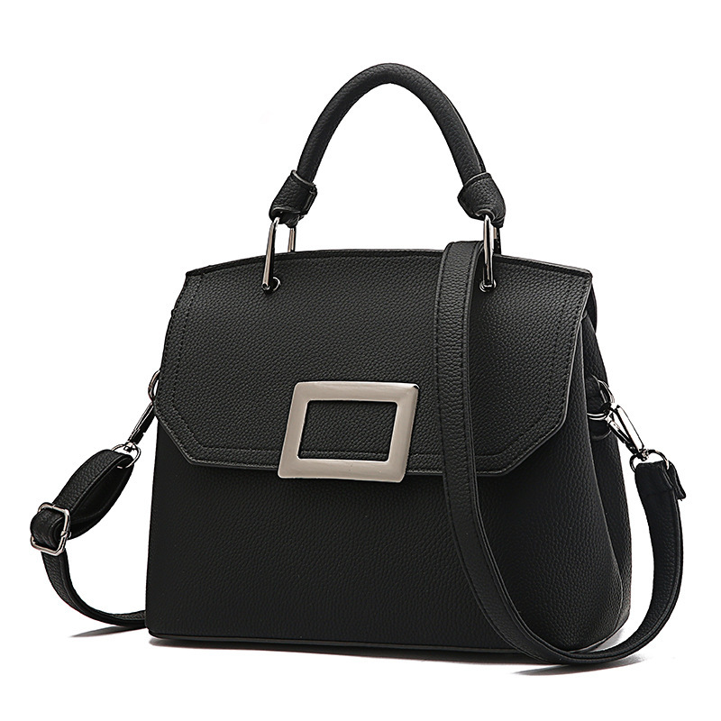 MORESHINE New arrival PU leather women shoulder bags Metal handle buckle Designer Women's handbag Female Original crossbody bag(China)