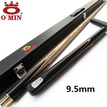 OMIN Snooker Cue, Model Assassin, Cue tip 9.5mm, Length 145cm, 3/4 Jointed cues, Handmade Billiard Stick,Free Shipping