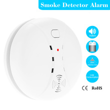 Wireless Photoelectric Smoke Detector High Sensitive Stable Fire Alarm Sensor Monitor for Home Safety Garden Security