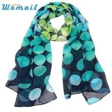 Autumn Winter Women Lady Shawl Chiffon Dot Rectangle Scarf Scarves Sun Protection Gauze Kerchief poncho echarpe Hot 2017Ap14