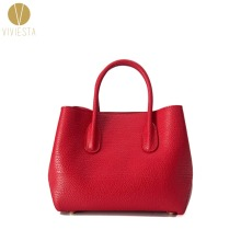 GENUINE REAL PEBBLED LEATHER TOTE BAG - 2 in 1 Women's 2016 Fashion Brand Formal Dress Work Office Business Shoulder Bag Handbag(China)