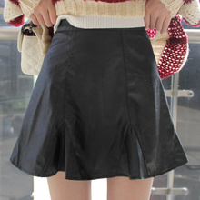 Buy Hot Sale Autumn Winter Faux Leather Short Skirt Black / Wine Red / Khaki Mini Skirt Plus Size Leather Skirt 6xl Womens 2015 for $14.82 in AliExpress store