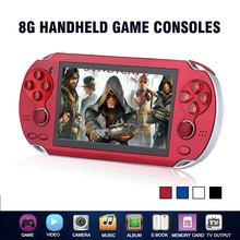 New Children 8GB Handheld Game Console 4.3 Inch Portable Colorful Mini Video Gaming Players Mp4 Mp5 Support TV Out Camera E-Book(China)
