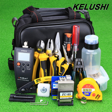 KELUSHI 29 IN 1 Fiber Optic FTTH Tool Kit with FC-6S Cleaver/Power Meter/ Visual Fault Finder/Kevlar Scissors/Cutting Guider Way
