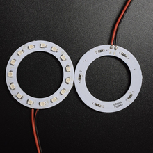 2PCS x  Car Led  Headlight 50mm 3528 15-SMD Angel Eyes Halo Ring Light , White/Blue/Yellow/Green/Red