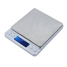 JFBL High Accuracy Mini Electronic Digital Platform Balance with Two Trays Portable 2000g/0.1g Counting Function Blue LCD