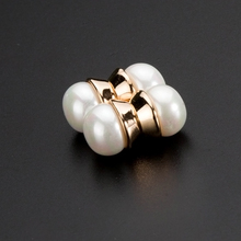 Hot sale ! White Pearl Round Health Care Earring Magnetic Stud Earrings magnet earrings Don't Need Ear Canal Free Shipping