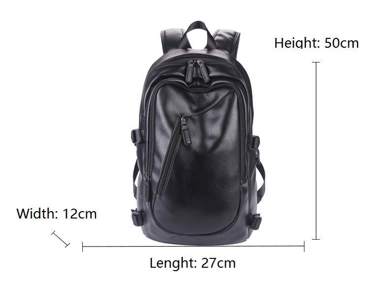 Large Capacity Leather Laptop Backpack Bag 15.6 Women Outdoor Travel Bag Backpack Computer Backpack with Laptop Compartment 14