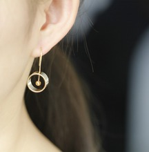7 accessories wholesale inspired design geometrical element round earrings  contracted man woman