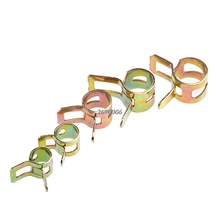 50Pcs 5/6/7/8/9mm Spring Clip Fuel Line Hose Water Pipe Air Tube Clamps Fastener