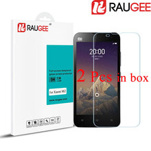 2 Pcs RAUGEE for Xiaomi Mi2 M2 2.5D 9H Non Full Screen Tempered Glass Anti-Explosion Phone Screen Protector Film for Xiaomi Mi2s