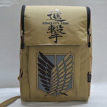 Anime Bag Attack On Titan 2016 Travel Canvas Backpack School Attack on Titan Canvas Cartoon Laptop Computer School Bag