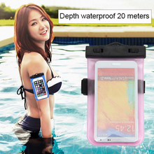Mobile Phone Waterproof Bag Case for iPhone 7 6 6s Plus 5s SE Underwater Water Proof cover for Samsung S8 Plus S6 S7 edge Note 5(China)