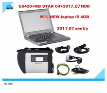 2017 For MB Star C4 SD Connect+E6420+HDD Mercedes Diagnosis c4 Xentry Diagnostics Compact 4 Multiplexer For Benz Diagnose Win 7