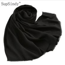 2017 new winter scarf women shawl 100% wool 125g tassel candy color soft comfortable warm fashion scarves rectangle GOOD QUALITY(China)