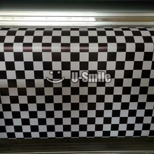 Black & White Chequered Vinyl Wrap Camo Film Racing Car Air Bubble Free Size:1.50*30m/Roll