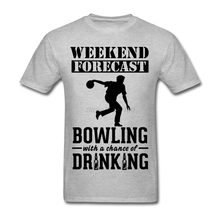 Screen Printing Love Bowling Tees Shirt For Men Short Sleeve Crewneck Cotton Plus Size Couple T Shirts