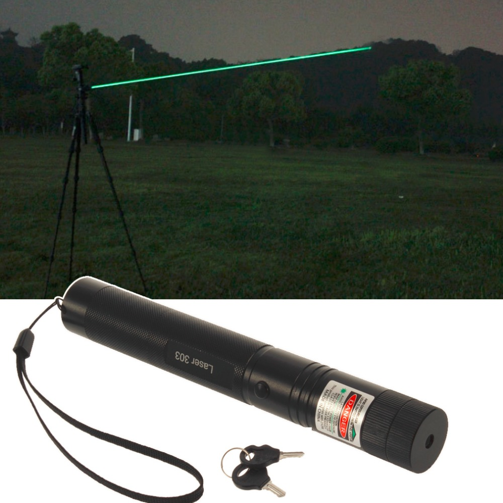 Powerful-Green-Laser-Pointer-532nm-5mW-303-Laser-Pen-Adjustable-Focus-Burning-Match-Beam-Lazer-Pointer
