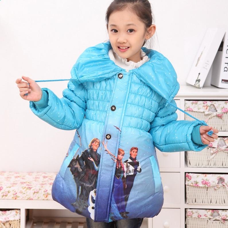 2015 winter girls coats costume Parkas jacket for girls Elsa Anna reima children casaco inverno outerwear<br>