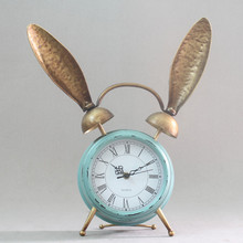 Antique desk clocks metal table clock free shipping rabbit cute table clock
