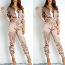 tracksuit two piece set tracksuit women disfraz mujer knitted tracksuit womens two piece sets 2017 chandal mujer completo buzo(China)