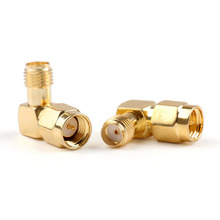 SMA female jack to SMA male plug 90 Degree right angle in series RF coaxial coax Assembly adapter connector(China)