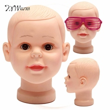 PVC Children Kid Mannequins Manikin Head For Glasses Hats Wig Mould Model Show Stand Display