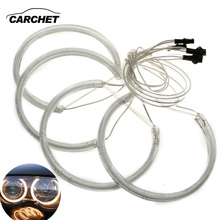 CARCHET CCFL Angel Eyes for BMW 130MM 4 Pieces Lamp Rings Amber Light 4W for BMW E46 E39 E36 DC 12V Car-styling