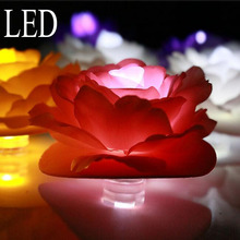 Creative personality  LED decorative flower light simulation Rose Lamp marriage proposal is decorated supplies