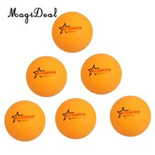 MagiDeal Pack of 6 Ping Pong Table Tennis Balls Beer Pong Balls Orange / White(China)