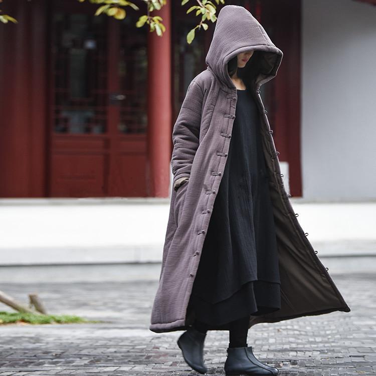 female winter hooded cape (4)