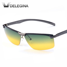 2017 HD hipster Day Night Vision Polarized Glasses for Men Unisex Professional Driving Shades Yellow Gradient Lens gafas oculos