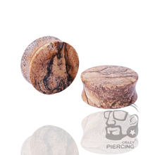 Ear Expander Body Piercing Jewelry Pair Unakite Organic Flesh Tunnels Stone Ear Plugs Ear Gauges Stretcher(China)