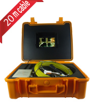 Pipe Sewer Inspection Camera With 12 Pcs White LED Lights Portable Plastic Case 20m Cable(China)