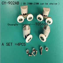 (4PCS /SET) shower door rollers wheels runners pulleys CY-902AB(China)