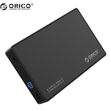 "ORICO 3588US3 HDD Enclosure 3.5-inch SATA External Hard Drive Enclosure, USB 3.0 Tool Free for 3.5"" SATA HDD and SSD(China)"
