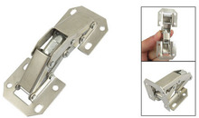 90 Degree Opening Surface Silver Tone Metal Concealed Hinge 10 Pcs