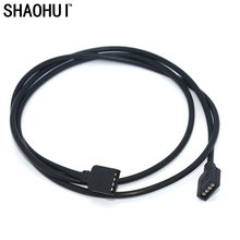 5pcs Black 4Pin 1 meter Female Connector Extend Connection Wire Cable For SMD 3528 5050 RGB LED Flexible Strip Light connecting