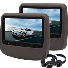 9'' Car DVD Player Twin Screen Headrest Monitor car Style Backseat DVD Player USB/SD HDMI 32 Bits Games Disc/Pair of Headphones(China)