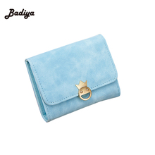 Dollar Price PU Leather Smile Face Metal Purse Card Holder Brand Designer Women Wallet Trifold Short Matte Wallets