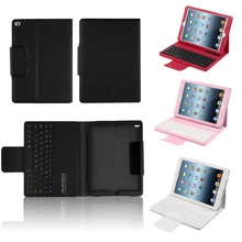 2 Gifts Wireless Bluetooth Keyboard & Protective Pu Leather Case for Apple iPad Air 2/iPad 6 Russian/Spanish Keyboard Customize(China)