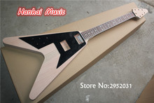 High Quality Semi-finished Guitar with Original Mahogany Body,Left-hand Style,Rosewood Fretboard,Black Pickguard,can Custom