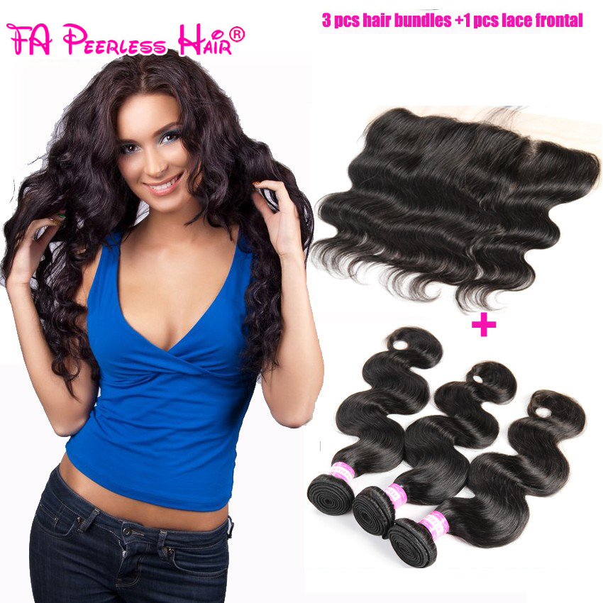 7a 13x4 peruvian lace frontal closure with 3 bundles free shipping queen hair peruvian body wave lace frontals with baby hair<br><br>Aliexpress