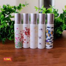 New Arrival 10ml Refillable Empty Glass Perfume Bottle Eye Gel Roll on Bottle with Tassel Cap Essential oil Bottle 20pcs/lot P17