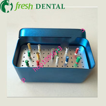 60 Hole disinfection box for Root canal file K file H file support box disinfection box for dental materials dental tool box